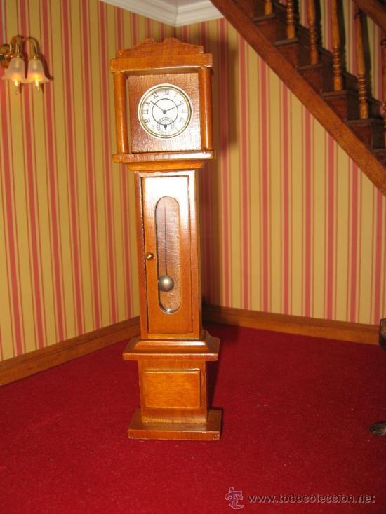 Color De 1 Reloj 12 Miniatura Escala Pared Nogal Madera thdCsQrx