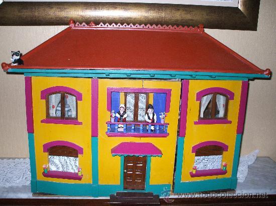 CASA DE MUÑECAS AÑOS 30 FABRICADA DE ENCARGO EN DENIA (Juguetes - Casas de Muñecas, mobiliarios y complementos)