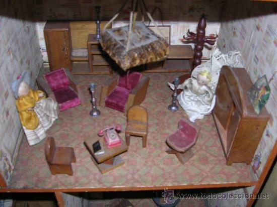 Casas de Muñecas: CASA DE MUÑECAS,AÑOS 20 COMPLETA CON MUÑECAS Y MOBILIARIO TODO DE EPOCA,VER FOTOGRAFIAS ADICIONALES. - Foto 31 - 21741984