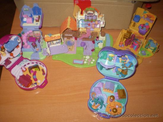 LOTE DE CASAS DE POLLY POCKET (CASA DE DISNEY ) ANTIGUAS AÑOS 90 (Juguetes - Casas de Muñecas, mobiliarios y complementos)