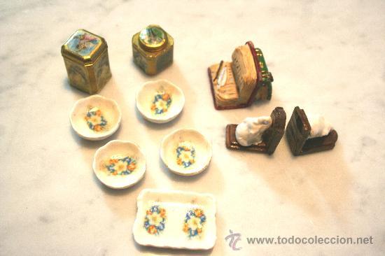 Lote de miniaturas escala 1 12 accesorios para comprar - Accesorios para casa de munecas ...