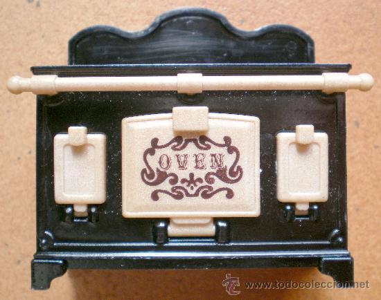 Casas de Muñecas: Cocina miniatura estilo antiguo carbón original Sylvanian Families - Foto 2 - 26783886