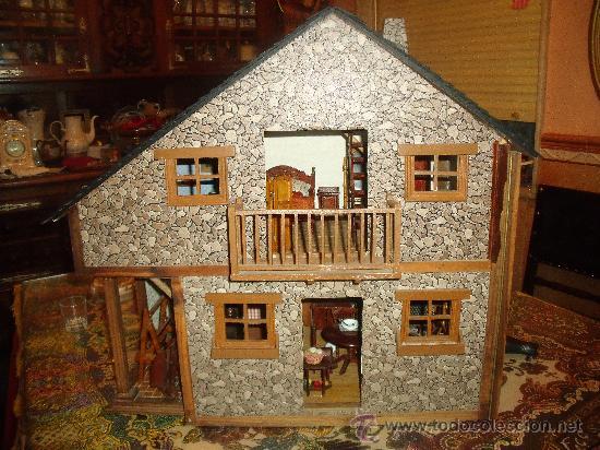 Casa rustica de grandes dimensiones en madera a comprar casas de mu ecas mobiliarios y - Casas en miniatura de madera ...