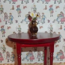 Casas de Muñecas: MESA REDONDA DE MADERA CAOBA PARA CASITA DE MUÑECAS ESC.1:12. Lote 29927513