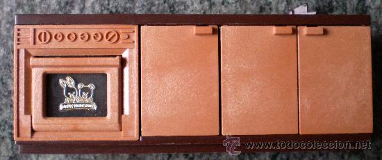 MUEBLE DE COCINA BANDAI 1986, CASAS DE MUÑECAS SYLVANIAN FAMILIES (Juguetes - Casas de Muñecas, mobiliarios y complementos)