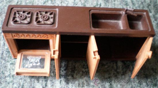 Casas de Muñecas: Mueble de cocina Bandai 1986, casas de muñecas Sylvanian Families - Foto 2 - 30481742