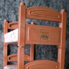 Casas de Muñecas - Camas litera Bandai 1986, muebles plástico Sylvanian Families - 30481901