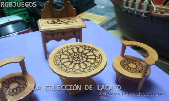 LOTE MUEBLES TOCADOR DORMITORIO CASA DE MUÑECAS (Juguetes - Casas de Muñecas, mobiliarios y complementos)