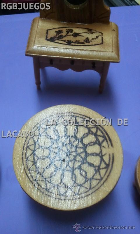 Casas de Muñecas: LOTE MUEBLES TOCADOR DORMITORIO CASA DE MUÑECAS - Foto 2 - 32704327