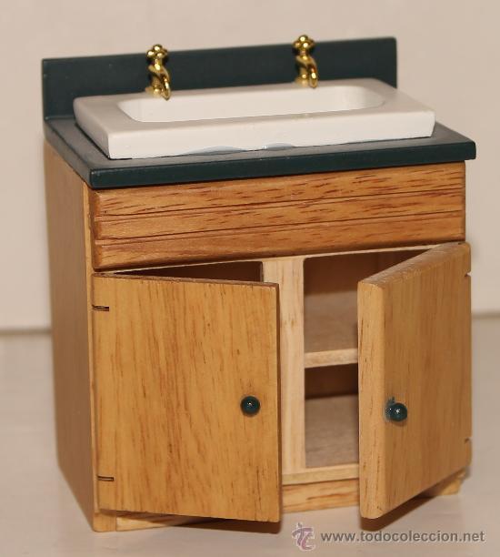 Armario lavabo miniatura para casa de mu ecas comprar for Armario para lavabo