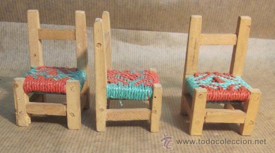 juego de sillas y mesa de comedor para muñecas, - Kaufen ...
