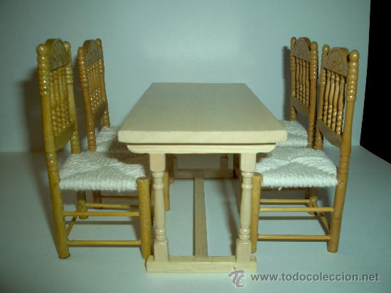 genial mesa y 4 sillas en madera para cocina et - Comprar Casas de ...