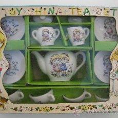 Casas de Muñecas: ANTIGUO JUEGO DE TÉ DE JUGUETE - TOY CHINA TEA SET - PIEZAS DE CERÁMICA - MADE IN JAPAN - NUEVO.. Lote 39113671