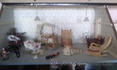 Casas de Muñecas: Espectacular casa de muñecas,completa no le falta detalle,con luces funcionando. Años 70. Ver fotos - Foto 14 - 39779710