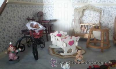 Casas de Muñecas: Espectacular casa de muñecas,completa no le falta detalle,con luces funcionando. Años 70. Ver fotos - Foto 16 - 39779710