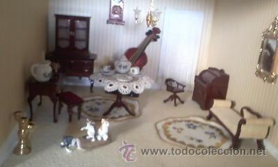Casas de Muñecas: Espectacular casa de muñecas,completa no le falta detalle,con luces funcionando. Años 70. Ver fotos - Foto 21 - 39779710