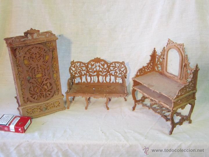 3 muebles miniatura en madera comprar casas de mu ecas mobiliarios y complementos en - Casas en miniatura de madera ...