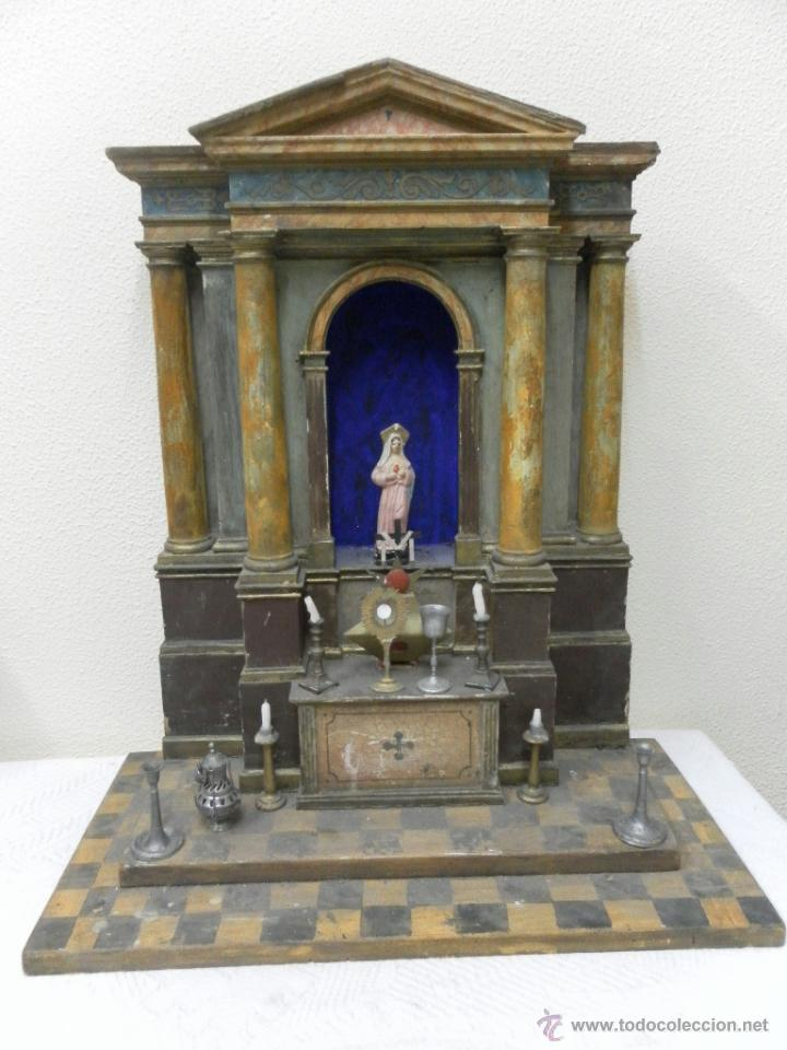 altar de juguete principios del siglo xx comprar casas. Black Bedroom Furniture Sets. Home Design Ideas