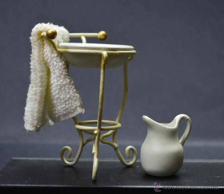 Lavamanos con palangana jarra agua y toalla m comprar - Lavamanos segunda mano ...