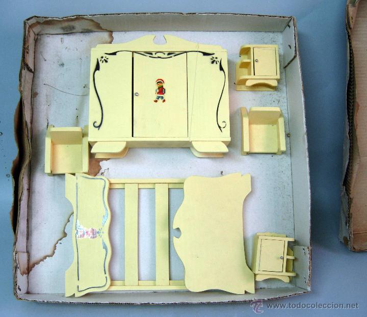 caja muebles casa muñecas conjunto dormitorio c - Comprar Casas de ...