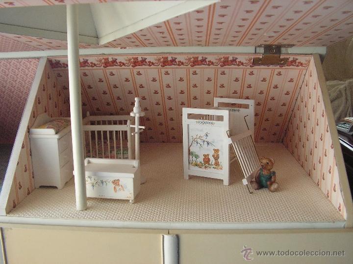 Casas de Muñecas: Casa de muñecas colonial 60cmx65cm altox38cm de fondo con muebles - Foto 3 - 42905158
