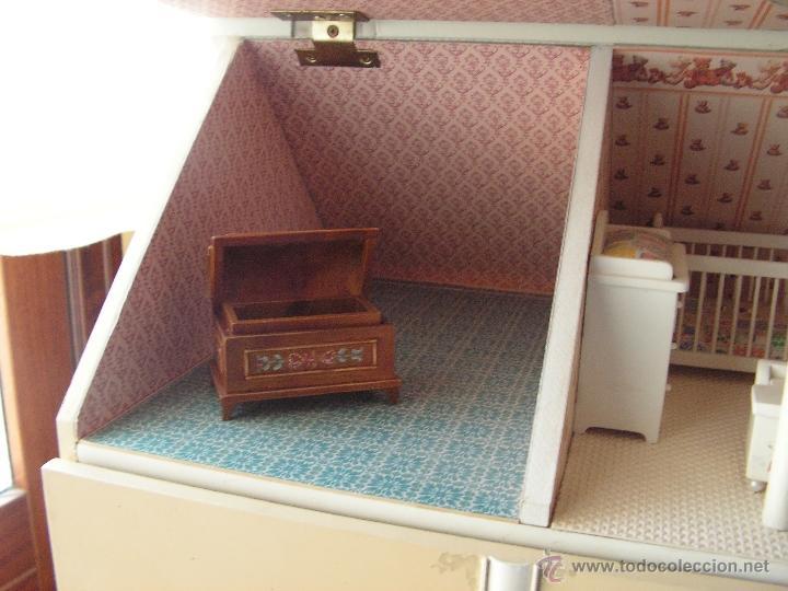 Casas de Muñecas: Casa de muñecas colonial 60cmx65cm altox38cm de fondo con muebles - Foto 4 - 42905158