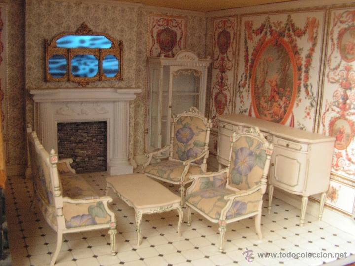 Casas de Muñecas: Casa de muñecas colonial 60cmx65cm altox38cm de fondo con muebles - Foto 6 - 42905158