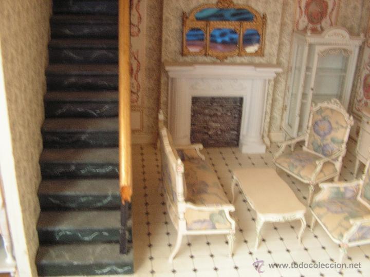 Casas de Muñecas: Casa de muñecas colonial 60cmx65cm altox38cm de fondo con muebles - Foto 7 - 42905158