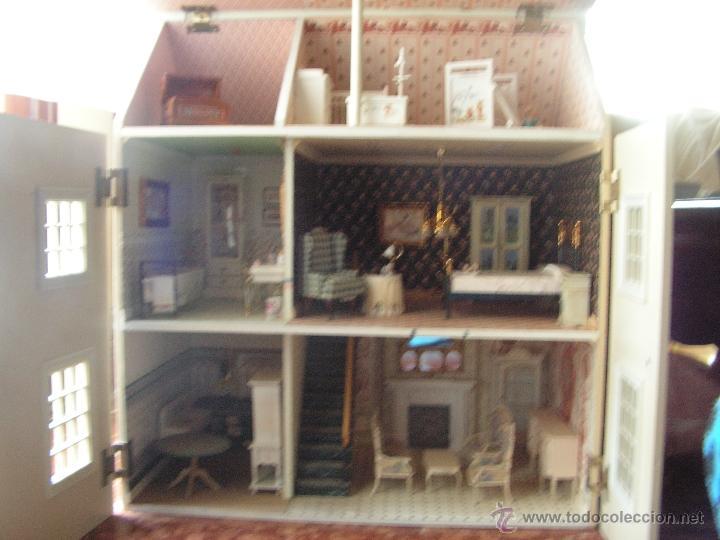 Casas de Muñecas: Casa de muñecas colonial 60cmx65cm altox38cm de fondo con muebles - Foto 10 - 42905158