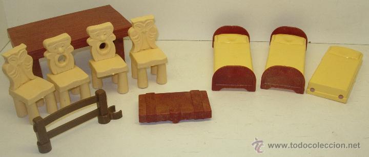 Lote complementos mobiliario casa blancanieves comprar casas de mu ecas mobiliarios y - Casa blancanieves simba ...