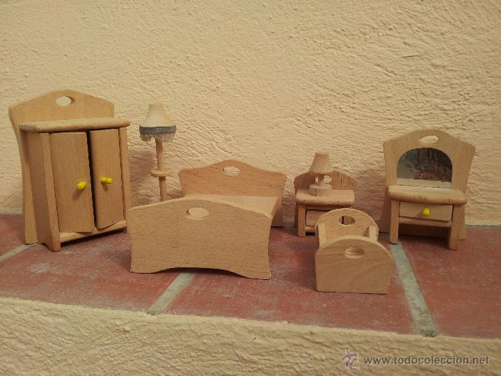 Conjunto de muebles de madera para casa de mu comprar for Muebles casa de munecas