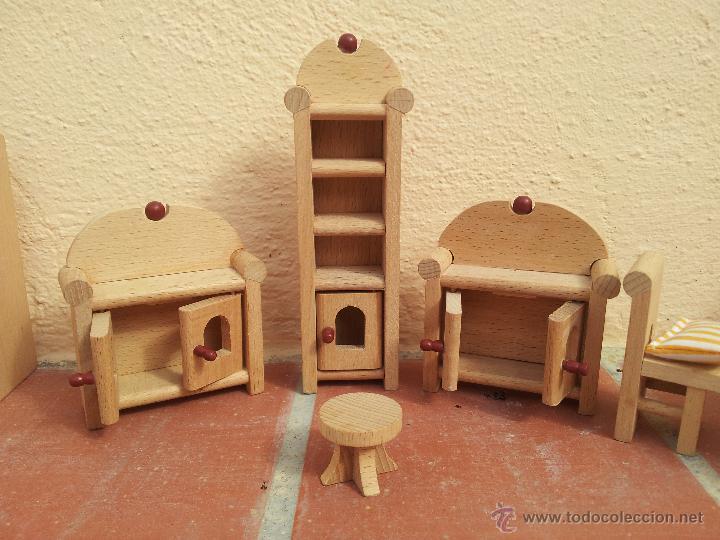 Conjunto de muebles de madera para casa de mu comprar for Muebles de madera para terraza