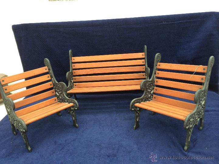 Muebles de jardin para mueca en madera y hierro comprar for Muebles de hierro y madera