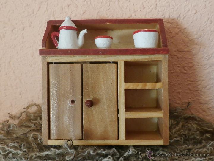 mueble rústico para la cocina de madera - Comprar Casas de Muñecas ...