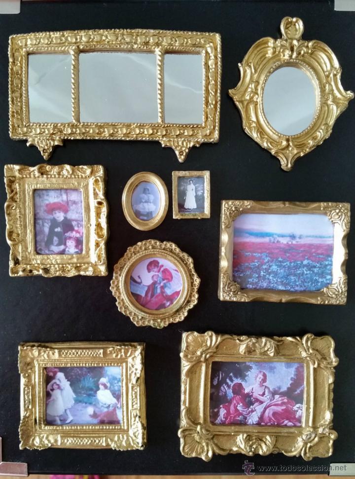 Lote de cuadros y espejos para casas de mu ecas comprar for Cuadros para espejos