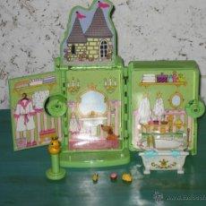Casas de Muñecas: CASITA DESPLEGABLE CON ACCESORIOS TAMAÑO POLLY POCKET MINI - IMPECABLE, COMO NUEVA !!. Lote 145032572