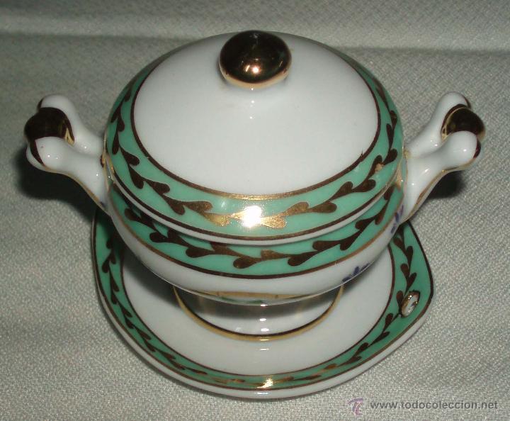 Casas de Muñecas: sopera de porcelana italiana para casa de muñecas - Foto 2 - 46723048