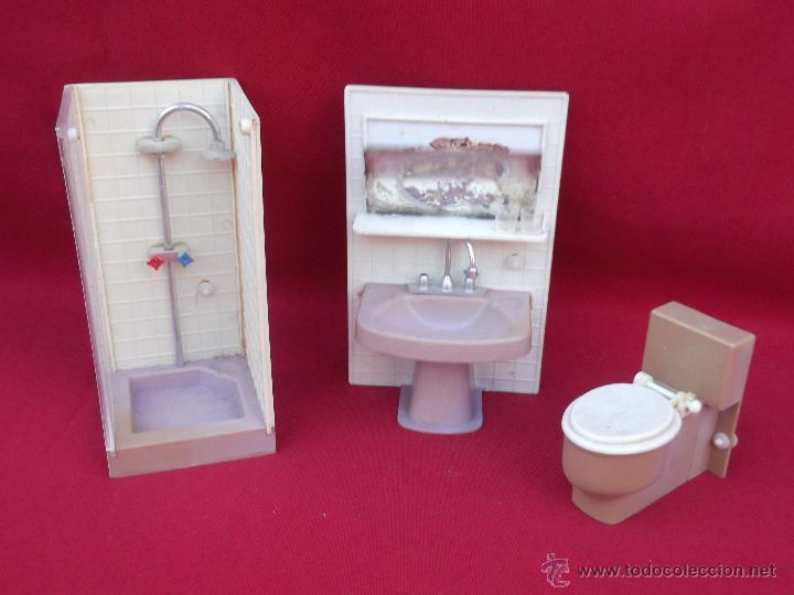 cuarto de baño para casas de muñecas años 70 - Comprar Casas de ...