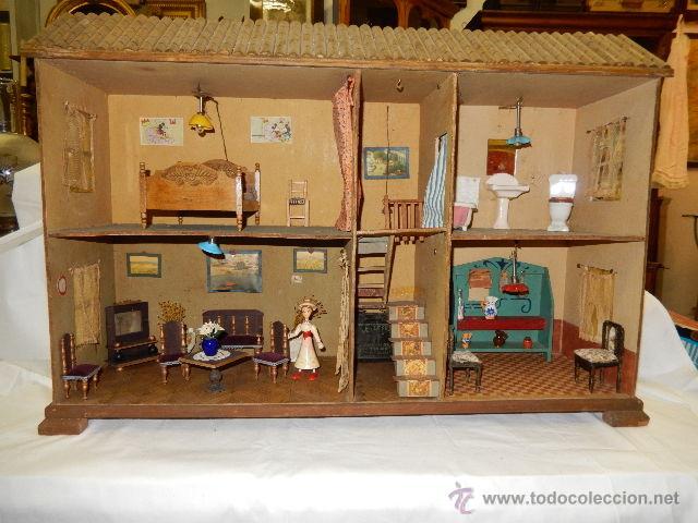 casa de muñecas. siglo xx. - Comprar Casas de Muñecas, mobiliarios y ...