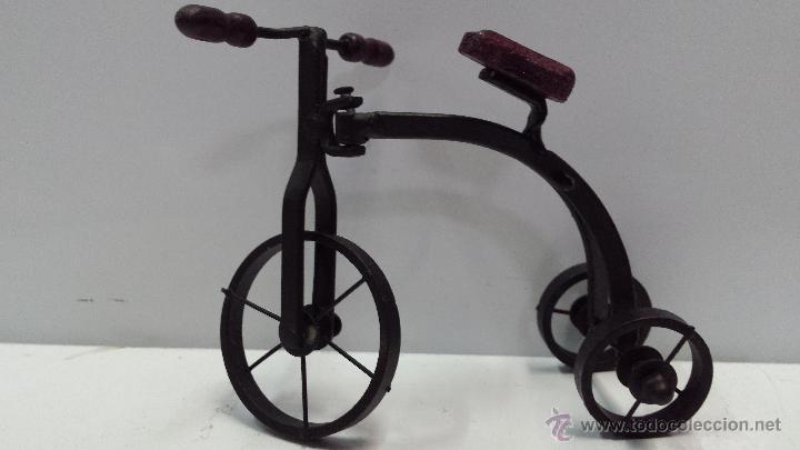 Triciclo De Hierro Y Madera Para Maqueta Envi Comprar Casas De