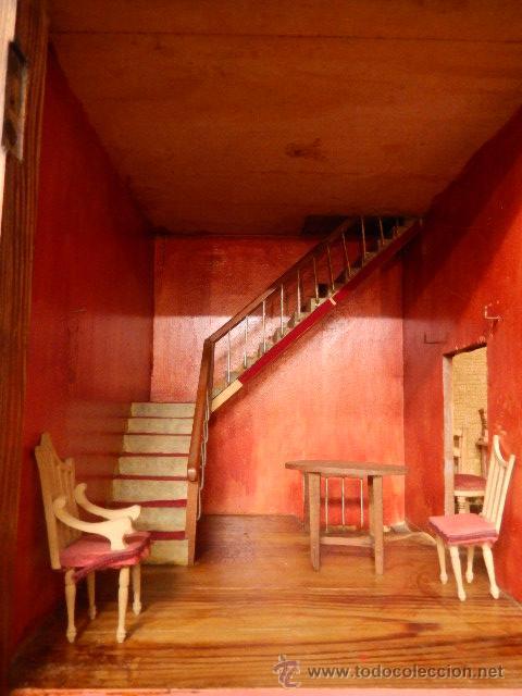 Casas de Muñecas: Casa de muñecas. Juguete antiguo. Siglo XIX / XX. Con accesorios - Foto 4 - 48619082