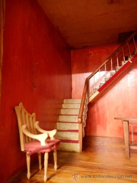 Casas de Muñecas: Casa de muñecas. Juguete antiguo. Siglo XIX / XX. Con accesorios - Foto 5 - 48619082