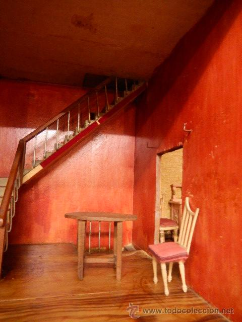 Casas de Muñecas: Casa de muñecas. Juguete antiguo. Siglo XIX / XX. Con accesorios - Foto 6 - 48619082
