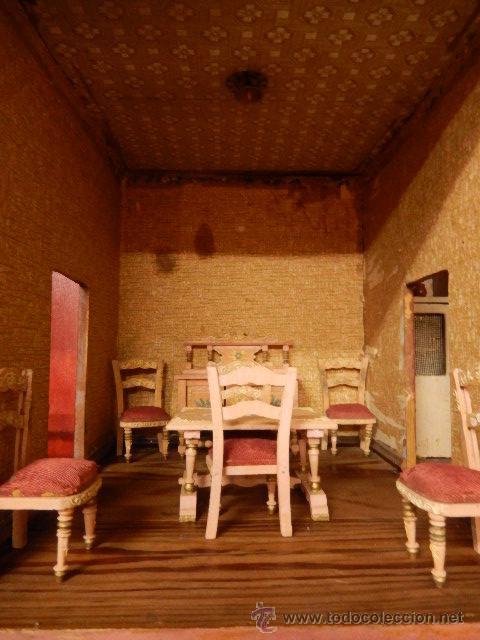 Casas de Muñecas: Casa de muñecas. Juguete antiguo. Siglo XIX / XX. Con accesorios - Foto 7 - 48619082