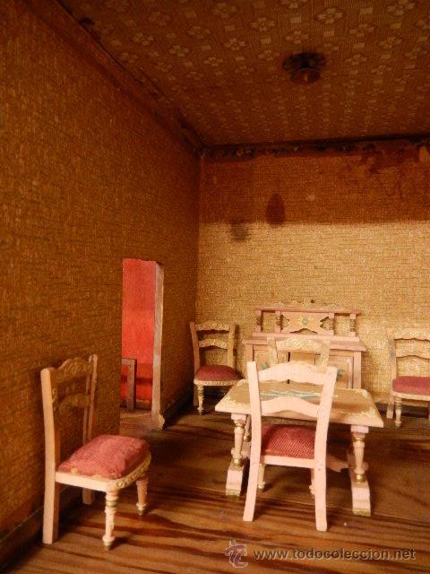 Casas de Muñecas: Casa de muñecas. Juguete antiguo. Siglo XIX / XX. Con accesorios - Foto 8 - 48619082