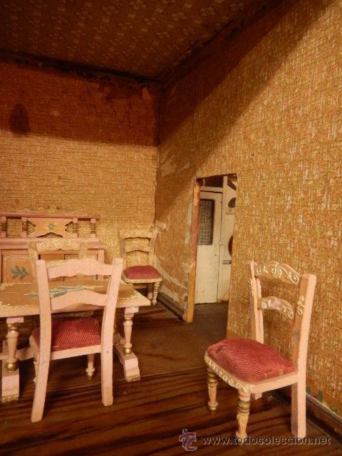 Casas de Muñecas: Casa de muñecas. Juguete antiguo. Siglo XIX / XX. Con accesorios - Foto 9 - 48619082
