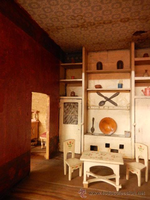 Casas de Muñecas: Casa de muñecas. Juguete antiguo. Siglo XIX / XX. Con accesorios - Foto 11 - 48619082