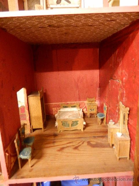Casas de Muñecas: Casa de muñecas. Juguete antiguo. Siglo XIX / XX. Con accesorios - Foto 18 - 48619082