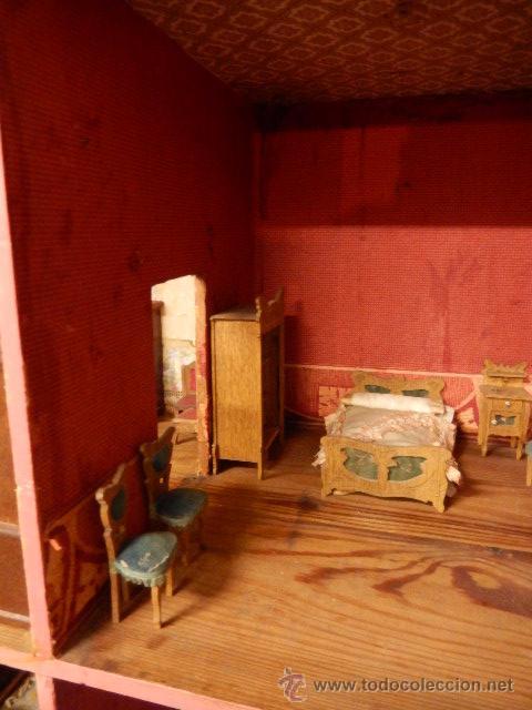 Casas de Muñecas: Casa de muñecas. Juguete antiguo. Siglo XIX / XX. Con accesorios - Foto 19 - 48619082