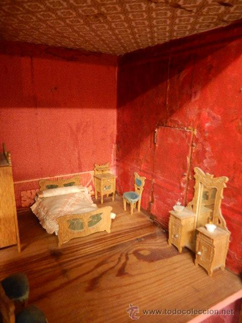 Casas de Muñecas: Casa de muñecas. Juguete antiguo. Siglo XIX / XX. Con accesorios - Foto 20 - 48619082